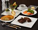 超・熟成和牛の網焼きステーキなどの6品ランチコース