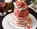 [ ♯ 肉ケーキ ]インスタ受けバツグン!お好きなメッセージ付き♪アニバーサリー肉ケーキ☆