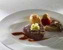 Beef filet steak lunch