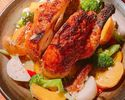 【X'mas ☆ 23rd ~ 25th limited sale】 Herb roast of whole chicken and vegetables ~ Diabola sauce ~ We will offer special cuisine in limited quantity ◎ Perfect for a fun time of Christmas ♪