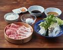 【ランチ】国産牛ロース40g + 米澤豚しゃぶしゃぶセット