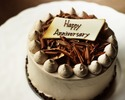 ★Please order with meals.★ 【 Anniversary B ( Chocolate cake 12cm) 】