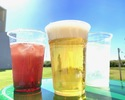 All-you-can-drink alcohol and soft drinks / Up to 3 hours