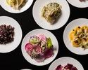 【平日限定Lunch】 7種のイタリアンサラダビュッフェ+パスタ+メイン+デザートのランチコース全4品