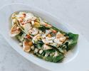【サラダランチ】蒸し鶏の中華風シーザーサラダ