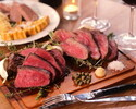 MANHATTAN course with three types of 40 days Dry-aged, Japanese Beef! ☆ With all-you-can-drink plan ☆