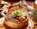 とろけるチーズのシカゴピザ、特注石窯で焼き上げたブランド豚「Tokyo X」食べ比べ忘年会コース【直輸入樽生クラフトビール5種飲放】