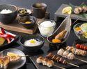 【幸(こう)コース】当店自慢の比内地鶏の串と京鴨の炙り焼きを含む人気のフルコース仕立て