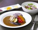 平日限定 黒米ともち麦ごはんの彩り野菜カレー