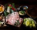 2時間飲み放題 ~黄金出汁~イベリコ豚のしゃぶしゃぶコース5000円(全9品)