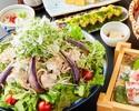 【数量限定】北海道産ホエイ豚冷しゃぶサラダコース 2時間飲み放題付き 4000円(税込)