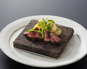Yamagata Beef Steak & Live Hairy Crab  Course B  《Sirloin steak》(Clab size is large)