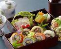 【銀座並木通りでランチ】ロール寿司6種、チョップドサラダ、茶碗蒸しなど!レディースロール寿司御膳