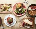 【乾杯スパークリング付】前菜盛り、魚料理と魚介のパエリアなどシーフードを楽しむ全5品ランチ
