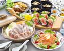 【豚バラ肉と白菜の豆乳仕立て他全7品】 新年会プラン 華(はな)