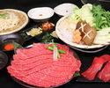Kuroge Wagyu beef splashed roast sukiyaki course