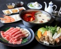 鴛鴦火鍋コース 美味コース <白湯スープ&麻辣スープ> ¥5,500