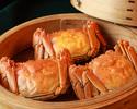 個室でゆったり!グラス紹興酒×フカヒレの姿煮など上海蟹コース