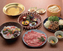 Hot-pot shabu-shabu(thinly-sliced meat) course