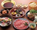 すき焼きのお鍋+飲み放題(8000円)