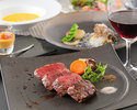 A5 grade Japanese black beef fillet steak dinner course