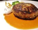 汉堡肉一盘午餐