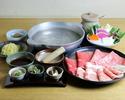 ◎松坂牛・黒豚・合鴨 3種肉のしゃぶしゃぶコース