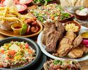 スペアリブやチキングリルなど10種類の料理が楽しめる。ALOHAコース