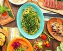 ★1、2月限定価格!!★【ナチュラルランチコース】アヒポキやコブサラダなどの前菜から特製パスタまで、アサイーボウルのついたお得なランチコース 全5品