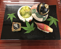 The Kaiseki course for vegetarians 15,000JPY