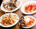 【土日祝ブランチコース】■全5品+お好きなお飲物付き 前菜三種盛り合わせ、選べるパスタ、お肉料理、デザートまで付いた土日祝限定の豪華ブランチコース