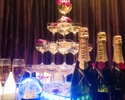 <金土祝前日>[シャンパンタワー付きコース]お食事6品9種+2時間+アルコール&ソフトドリンク飲み放題込み