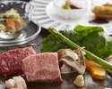 【AKAN】 Comparison course of Shiretoko beef and Saroma black beef sirloin
