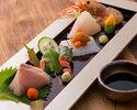 【お得な味覚コース】お刺身、串焼き、旬鮮魚の9品 税込み8000円