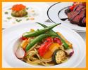 【ランチ・選べる1ドリンク付き】前菜やパスタ2種類、メインディッシュ、ドルチェなど全6品のコース