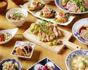 かんぱちのカルパッチョ、塩鶏の柚子胡椒焼き、いくらのお稲荷さんコース《3500円》