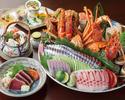 【土佐皿鉢コース】秋の味覚「松茸の土瓶蒸し」「戻り鰹のたたき」付きの『皿鉢(さわち)』のコースです。