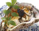 能登天然岩牡蠣と国産ワインのペアリングプラン(乾杯白ワインと90分飲み放題付き)