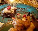 ⑤[3時間飲み放題付]忘年会に!オマール海老風味のチーズフォンデュ×薩摩鶏カルパッチョとローストチキンのWメインコース