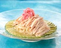 """""""Sairyu"""" original cold noodles-""""Japanese"""" cold noodles with fresh sudachi and domestic steamed chicken-"""