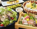 【数量限定】2時間飲み放題+北海道産ホエイ豚と夏野菜の冷しゃぶコース 4000円(全7品)