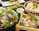 2時間飲み放題+北海道産ホエイ豚と夏野菜の冷しゃぶコース 5000円 (全9品)