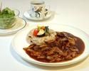 ランチ ハッシュ・ド・ビーフ 旬野菜と十五穀米