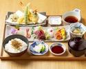 Gion Festival Limited Sashimi and Tempura set menu