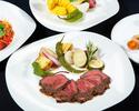 【7・8・9月特別コース】 黒毛和牛のビステッカと三浦産有機野菜のコース(2時間)