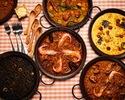 【お料理のみ、4名様以上から】タパス&パエリアコース《全12品》