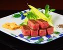 Steak lunch course