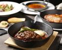 【熟成肉ランチ!】熟成牛とまるみ豚のハンバーグと熟成豚ステーキのチョイスコース