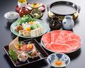 昼のすき焼 団コース(特上)¥8800