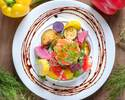 ⑪【乾杯スパークリング付】豪華お肉料理Wメインとオマールエビ風味濃厚チーズトマトフォンデュランチ 全7品